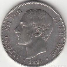 Monedas de España: ALFONSO XII: 5 PESETAS 1883 MSM ESTRELLAS 18-XX / PLATA. Lote 279578833