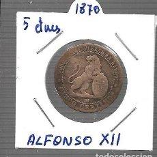 Monedas de España: MONEDA DE ESPAÑA I REPUBLICA 1870 LA QUE VES ORIGINAL. Lote 279590798