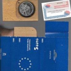 Monedas de España: MONEDA DE ESPAÑA JUAN CARLOS PLATA 33,62 GRAMOS FLOR DE CUÑO LA QUE VES ORIGINAL. Lote 279594373