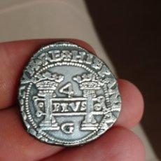 Monedas de España: AUTÉNTICA ACUÑADA 4 REALES JUANA Y CARLOS MÉXICO CATALOGADA EN AUREO MUY RARA.GOLPECITOS CIRCULACIÓN. Lote 281788033