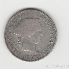Monedas de España: ISABEL II- 1 ESCUDO- 1867-MADRID. Lote 282069983