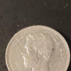 Monedas de España: MONEDA 5 PESETAS AMADEO I 1871 ESTRELLAS 18-71, EBC. SDM.. Lote 282224583