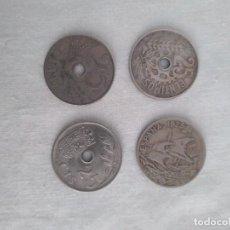 Monedas de España: LOTE 4 MONEDAS DE 25 CENTIMOS, ALFONSO XIII 1925 Y 1927, II REPÚBLICA 1934, GUERRA CIVIL 1937. Lote 282237028