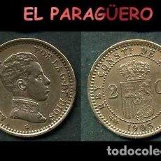 Monedas de España: ESPAÑA MONEDA AUTENTICA DE 2 CENTIMOS SMV AÑO 1905*05 ALFONSO XIII REY DE ESPAÑA DE 1886 A 1931 - N2. Lote 282958963