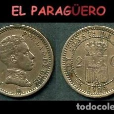 Monedas de España: ESPAÑA MONEDA AUTENTICA DE 2 CENTIMOS SMV AÑO 1905*05 ALFONSO XIII REY DE ESPAÑA DE 1886 A 1931 - N1. Lote 282958973
