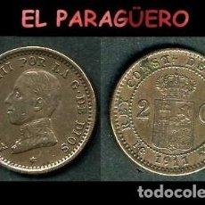 Monedas de España: ESPAÑA MONEDA AUTENTICA DE 2 CENTIMOS PCV AÑO 1911*11 ALFONSO XIII REY DE ESPAÑA DE 1886 A 1931 - N1. Lote 282963248