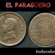 Monedas de España: ESPAÑA MONEDA AUTENTICA DE 2 CENTIMOS PCV AÑO 1912*12 ALFONSO XIII REY DE ESPAÑA DE 1886 A 1931 - N2. Lote 282974443