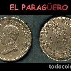 Monedas de España: ESPAÑA MONEDA AUTENTICA DE 2 CENTIMOS PCV AÑO 1912*12 ALFONSO XIII REY DE ESPAÑA DE 1886 A 1931 - N1. Lote 282974458