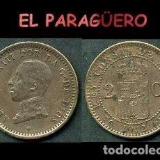 Monedas de España: ESPAÑA MONEDA AUTENTICA DE 2 CENTIMOS PCV AÑO 1912*12 ALFONSO XIII REY DE ESPAÑA DE 1886 A 1931 - N7. Lote 282982473