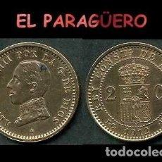 Monedas de España: ESPAÑA MONEDA AUTENTICA DE 2 CENTIMOS PCV AÑO 1912*12 ALFONSO XIII REY DE ESPAÑA DE 1886 A 1931 - N6. Lote 282982478