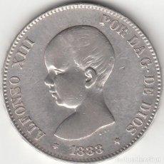 Monedas de España: ALFONSO XIII: 5 PESETAS 1888 ESTRELLAS 18-88 MSM / PLATA. Lote 282984593