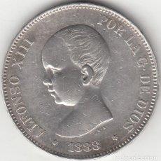 Monedas de España: ALFONSO XIII: 5 PESETAS 1888 ESTRELLAS 18-88 MSM / PLATA. Lote 282984783