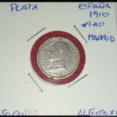 Monedas de España: MONEDA PLATA 50 CENTIMOS 1910 *1*0. EL DE LA FOTO. Lote 284598118