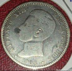 Monedas de España: MONEDA PLATA 1 PESETA 1903... EL DE LA FOTO. Lote 284598398