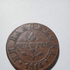 Monedas de España: JOSE NAPOLEON 4 QUARTOS 1814 BARCELONA MBC. ESCASA. (M24). Lote 284668028