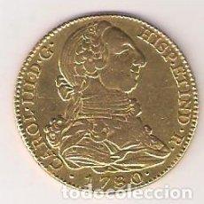 Monnaies d'Espagne: MONEDA 4 ESCUDOS DE CARLOS III DE 1780 ACUÑADA EN MADRID ENSAYADOR PJ. ORO. MBC ¡¡¡LIMPIADA!!! (0195. Lote 284695213