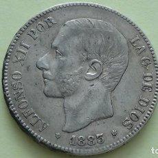 Monedas de España: ALFONSO XII 5 PESETAS 1.883 *18-83. EXCELENTE CONSERVACION. (M104). Lote 284811978