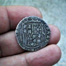 Monnaies d'Espagne: REYES CATOLICOS REAL PLATA SEVILLA P TUMBADA 3,2GRS. Lote 285112798