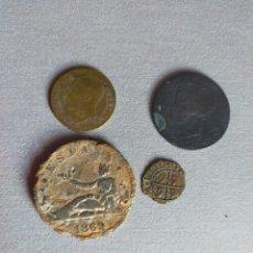 Monedas de España: LOTE DE 5 MONEDAS ESPAÑOLAS FALSAS DE EPOCA. Lote 285586368