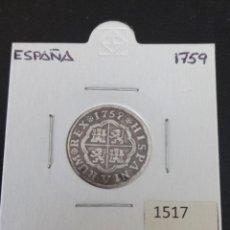 Monedas de España: ESPAÑA 1 REAL 1759 CECA SEVILLA. Lote 285587918