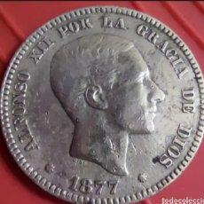 Monedas de España: ALFONSO XLL 10 CTS 1877. Lote 285689848