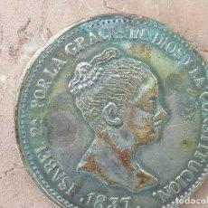 Monedas de España: 20 REALES ISABEL II 1837 FALSA DE EPOCA. Lote 286011468