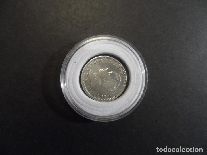 Monedas de España: 50 CENTIMOS DE PLATA ALFONSO XIII. REINO DE ESPAÑA. SM.V. AÑO 1904 0**4** S.C.. - Foto 6 - 286143518