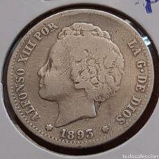 Monedas de España: 1 PESETA DE PLATA DE 1893 DE ALFONSO 13, ESCASA. Lote 286197738