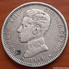 Monedas de España: 1 PESETA DE PLATA DE 1904 DE ALFONSO 13. Lote 286197963