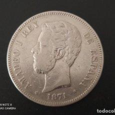 Monnaies d'Espagne: 5 PESETAS DE 1971...*74...AMADEO I.....PLATA....LA DE LAS FOTOS. Lote 286258888