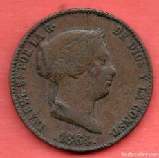 Monedas de España: ISABEL II - 25 CENTIMOS DE REAL 1864 - BARCELONA - RARA. Lote 286655708