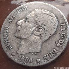 Monedas de España: 1 PESETA DE PLATA DE 1885 DE ALFONSO 12. Lote 286750708