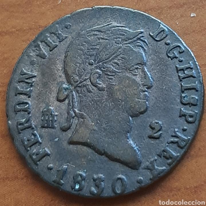 2 MARAVEDIS 1830 DE FERNANDO VII (Numismática - España Modernas y Contemporáneas - De Isabel II (1.834) a Alfonso XIII (1.931))