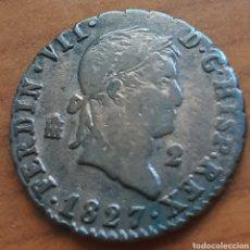 Monnaies d'Espagne: 2 MARAVEDIS DE 1827 DE FERNANDO VII. Lote 286893103