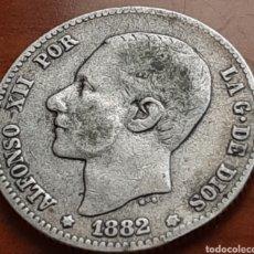Monedas de España: 1 PESETA DE PLATA DE 1882 DE ALFONSO 12 ESCASA. Lote 286908453