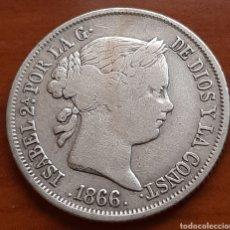 Monedas de España: 40 CENTIMOS DE ESCUDO 1866 DE PLATA DE LA REINA ISABEL. Lote 287026643