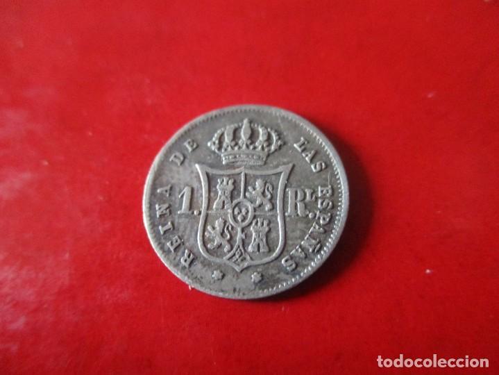 Monedas de España: Isabel II. un real de plata 1860 Madrid - Foto 2 - 287210603