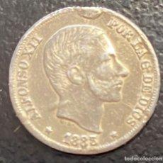 Monedas de España: ESPAÑA (FILIPINAS), ALFONSO XII, MONEDA DE PLATA DE 10 CENTAVOS DE PESO, AÑO 1883. Lote 287222408