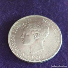 Monedas de España: MONEDA DE 5 PESETAS PLATA DE ALFONSO XIII. AÑO 1898. *18-98. SGV. ORIGINAL. PLATA 900.. Lote 287265323