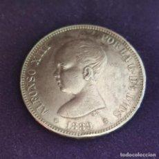Monnaies d'Espagne: MONEDA DE 5 PESETAS PLATA DE ALFONSO XIII. AÑO 1889. *18-89. MPM ORIGINAL. PLATA 900.. Lote 287265668