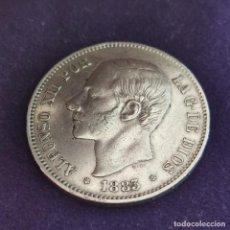Monedas de España: MONEDA DE 5 PESETAS PLATA DE ALFONSO XII. AÑO 1883. *18-83. MSM. ORIGINAL. PLATA 900.. Lote 287267298