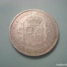 Monnaies d'Espagne: MONEDA COIN 5 PESETAS 1871 *18 *71 SDM AMADEO I PLATA SILVER ESPAÑA !!!!!!!!. Lote 287639068