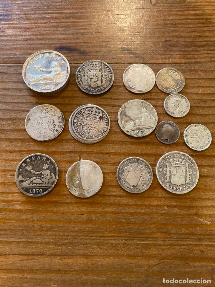 LOTE DE 110 GR DE PLATA EN MONEDAS ESPAÑOLAS (Numismática - España Modernas y Contemporáneas - De Isabel II (1.834) a Alfonso XIII (1.931))