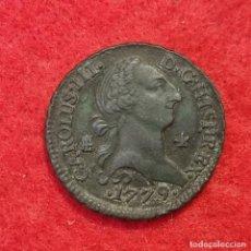 Monedas de España: MONEDA COBRE CARLOS III 4 MARAVEDIS 1779 SEGOVIA EBC- ORIGINAL C8. Lote 287738018