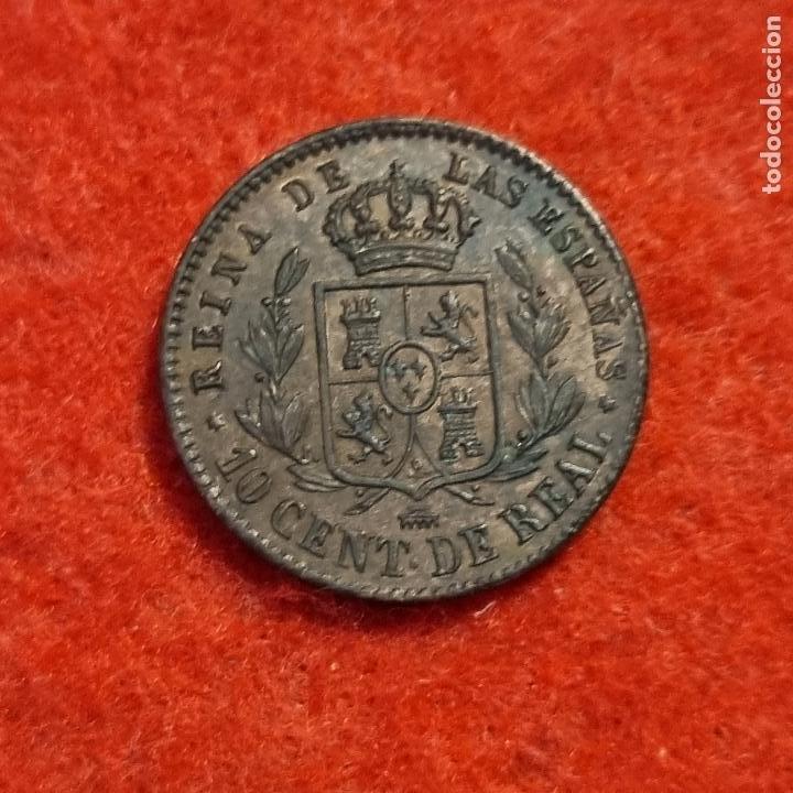 Monedas de España: MONEDA COBRE ISABEL II 10 CENTIMOS DE REAL 1858 SEGOVIA EBC ORIGINAL C8 - Foto 4 - 287741243