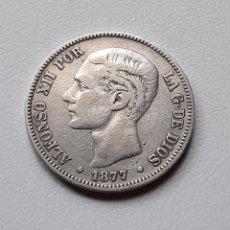 Monedas de España: ALFONSO XII 5 PESETAS PLATA 1877 *18-XX DEM MBC-. Lote 288156768