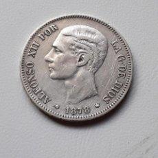Monedas de España: ALFONSO XII 5 PESETAS PLATA 1878 *18-XX DEM MBC-/MBC. Lote 288157253