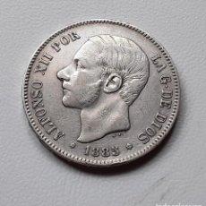 Monedas de España: ALFONSO XII 5 PESETAS PLATA 1885 *18-85 MSM MBC-/MBC. Lote 288158253