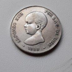 Monedas de España: ALFONSO XIII 5 PESETAS PLATA 1888 *XX-88 MPM MBC. Lote 288159613