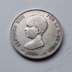 Monedas de España: ALFONSO XIII 5 PESETAS PLATA 1889 *XX-X9 MPM MBC-. Lote 288160073